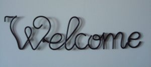 welcome letters in photo
