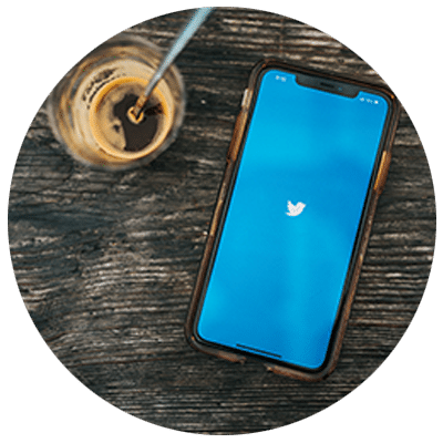 iphone with twitter logo